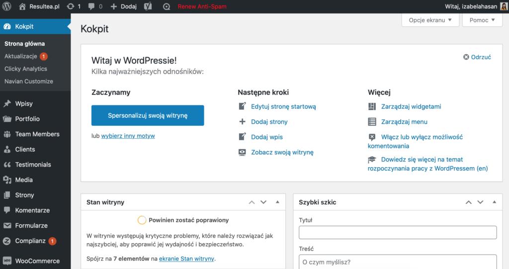 Narzędzia Wirtualnej Asystentki: WordPress