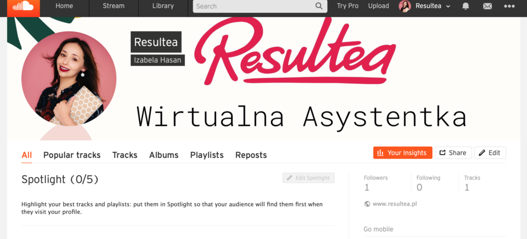 Narzędzia WA: SoundCloud