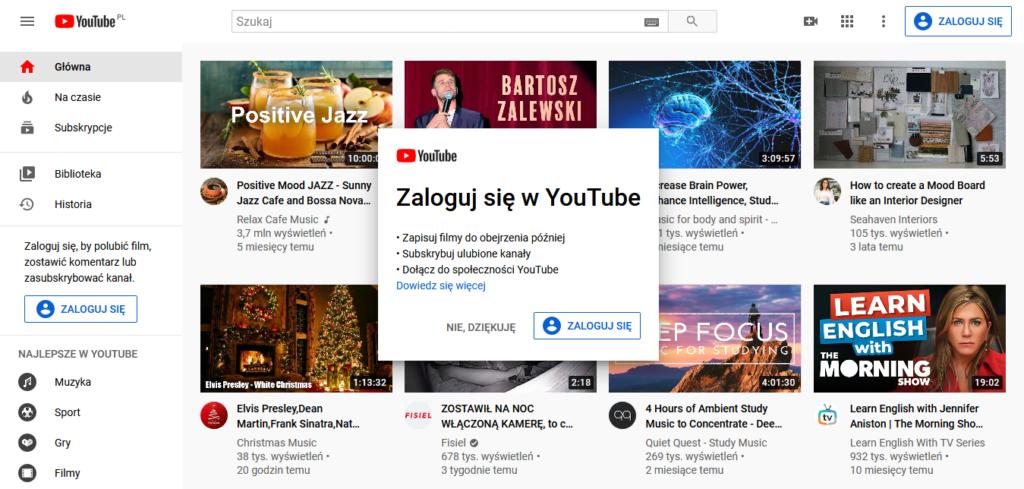 Narzędzia WA: YouTube