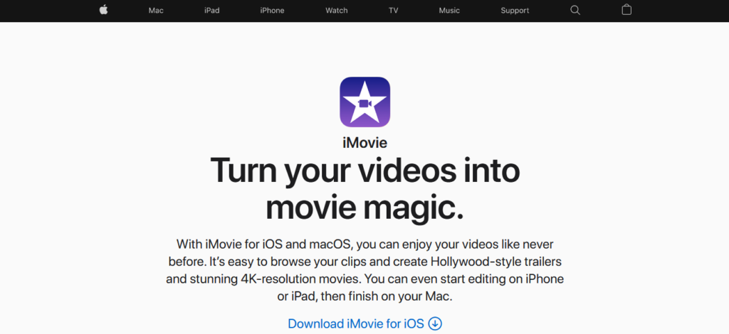 Narzędzia WA: iMovie